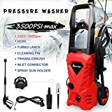 High Pressure Washer Electric Spray Gun Machine, 3500 PSI Adjustable High Pressure Spray