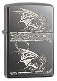 Zippo Anne Stokes Gothic Dragon Pocket Lighter, Black Ice