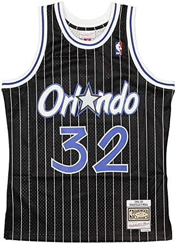 Jersey De Baloncesto De Verano Mitchell Y Nes Shaquille O'neal #32 Orlando Magia 1994-95 Swing Jersey Negro, Negro - M