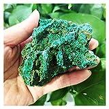 YSJJWDV Piedra de Cristal Piedras crudas Naturales Malaquite Terciopelo de Terciopelo Méter Muebles para el hogar Especímenes Piedras y Recoger Cristales de curación (Color : A5 220g)
