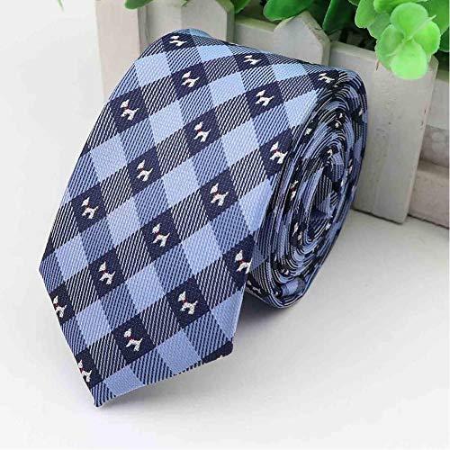 KJFUN Krawatten Herren Business Krawatte 6-7 cm Breit Hund Buchstaben Designer Jacquard Hochzeit Krawatte Schmale Klassische Krawatte