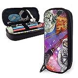 Estuche organizador con cremallera para lápices con láseres, con diseño de gato con láser; con cremallera, para la escuela, suministros de oficina