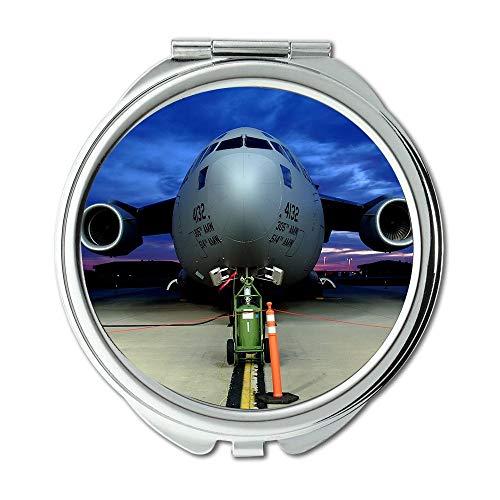 Yanteng Flugzeugtischplatte, Spiegel, Verfassungsspiegel, Kämpfer und Das Kind 3D, Taschenspiegel, beweglicher Spiegel