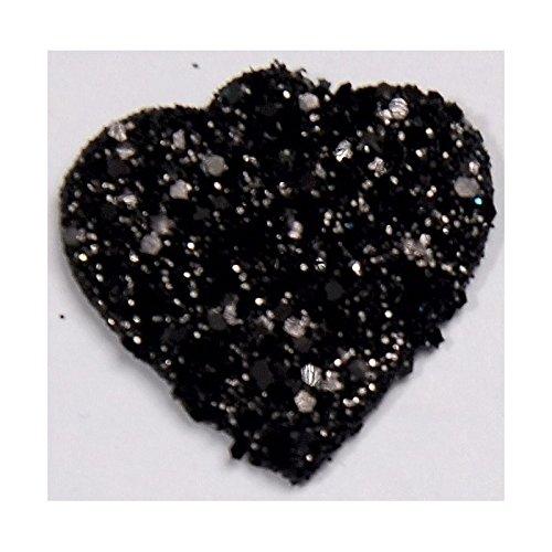Fetez-Moi 12 Coeurs Paillettes Noir
