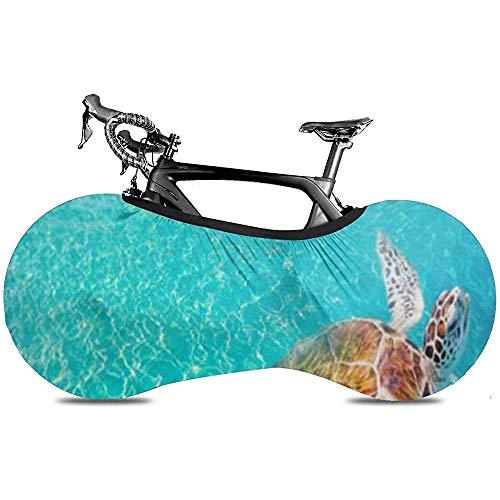 L.BAN Sweet-Heart Cubierta de Rueda de Bicicleta, Cubierta de Bicicleta Protect Gear Tire - Akumal Beach Turtles Photomount en Riviera Maya del México Maya