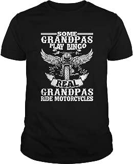 New Collection T shirt for Woman, Man anniversary Mens Some Grandpas Play Bingo Real Grandpas Ride Motorcycle TShirt