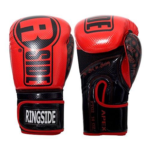 Ringside Apex Flash Boxing Training Sparring Gloves, RD/BK, 16 oz