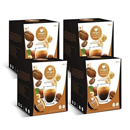 Capsulas Compatibles Dolce Gusto ®* Origen Sensations Cafe avellanas | Total 64 cápsulas