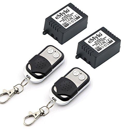 emylo® DC 12V One Transmitter 2x 1Kanal Smart Kabellose Fernbedienung Empfänger Lichtschalter Sender