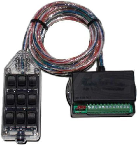 Clear 9 Rocker Switch Controller Box for Air Ride FBSS Airbag Suspension AVS-ARC-9-CL