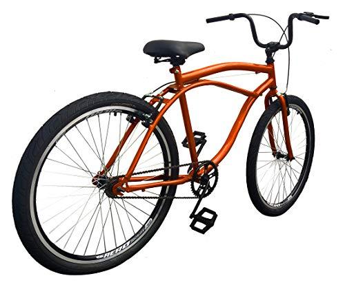 Bicicleta Caiçara Rocket Aço ARBL **INQUEBRÁVEL** LARANJA (quadro reforçado,raios grossos e aros aero)…