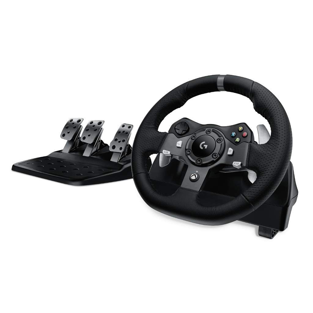 로지텍 G920 / G29 드라이빙 레이싱 휠 Logitech G920/G29 Dual-Motor Feedback Driving Force Racing Wheel with Responsive Pedals