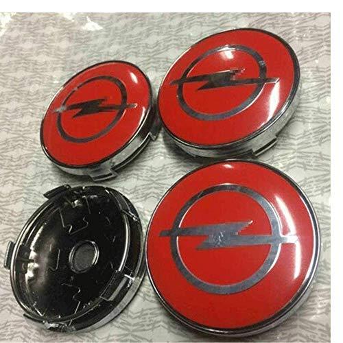 4 Piezas Coche Tapas Centrales Llantas Para Opel Astra H G J Insignia Mokka Zafira Corsa, 60 Mm Tapas Rueda Centro Tapacubos Coche Insignia Del Polvo, Accesorios De Estilo