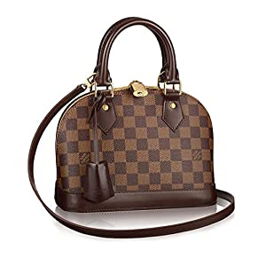 Fashion Shopping Authentic Louis Vuitton Damier Alma BB Cross Body Handbag Article: N41221 Made in