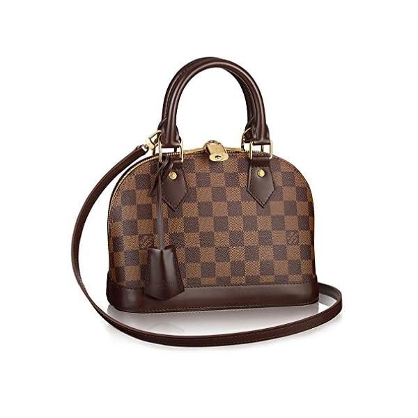 Fashion Shopping Authentic Louis Vuitton Damier Alma BB Cross Body Handbag Article: N41221 Made in
