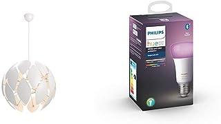 Philips Smart Volume Chiffon - Lámpara colgante blanca 60cms + Bombilla LED inteligente Philips ...