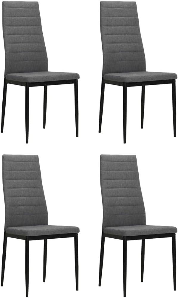 Ranking TOP16 NusGear Dining Chairs 4 pcs Gray Light Fabric -104 Ranking TOP17