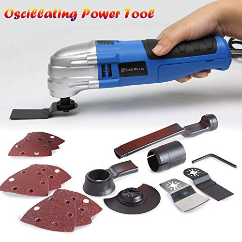 Great Price! Oscillating Multi-Tool with Blades Sandpapers Sanding Pad Accessory Kit 1.5A 180W 21000...