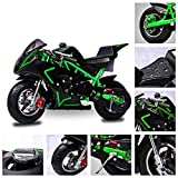Fit Right 2020 Mini Gas Pocket Bike On 40cc 4 Stroke, Support Up to 165 lbs, EPA Approved, Perfect Mini Pocket Bike for Kids (Green)