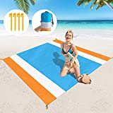 """Meiliweser Sandproof Beach Blanket - 83"""" X79"""" Oversized Large Beach Mat for 8 Adults, Sand Free & Waterproof Portable Outdoor Rest Picnic Blanket for Camping, Travel"""