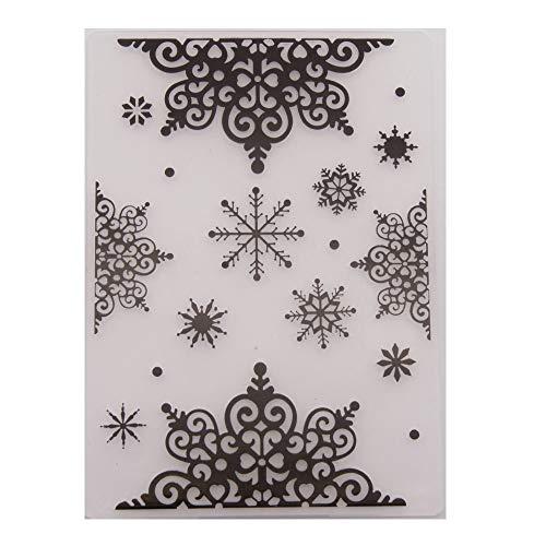 Kerst Sneeuwvlokken Plastic Embossing Map voor Scrapbook DIY Album Card Tool Plastic Template Mappen