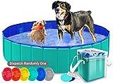 AYITOO Cani Piscina, Cani Vasca da Bagno, Piegevole Piscina per Cani,Ambiente Amichevole Pet Piscina Bagno per Animale Domestico Nuoto Piscina,160 x 30 cm Verde