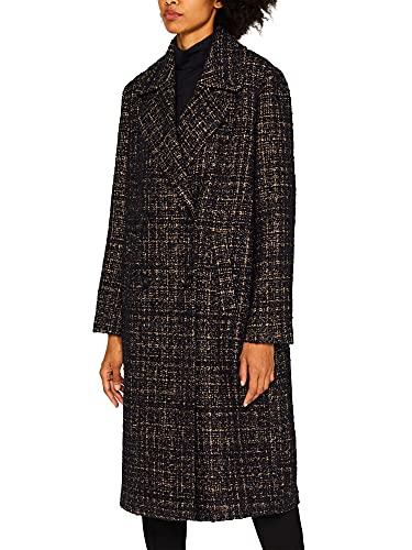 ESPRIT Mit Wolle: zweireihiger Bouclé-Mantel