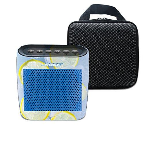 3C-LIFE für Bose Soundlink Farbe drahtloser Bluetooth Lautsprecher weiche Trage Spielraum-Speicher-Fall-Beutel-Drucken Zitronen-Aufkleber für Bose Sundlink Color (Farbe 7)
