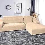 LTHDD Funda elástica para sofá de terciopelo grueso de felpa,...