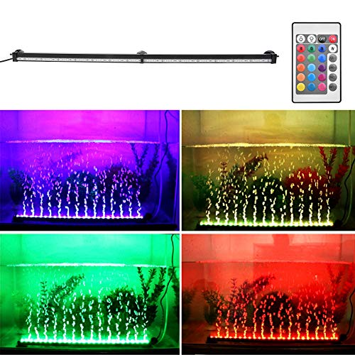 Younar LED Aquarium Light, Fish Tank Light RGB Color Changing with Remote Control Underwater Light for Saltwater and Freshwater, 30 Inch