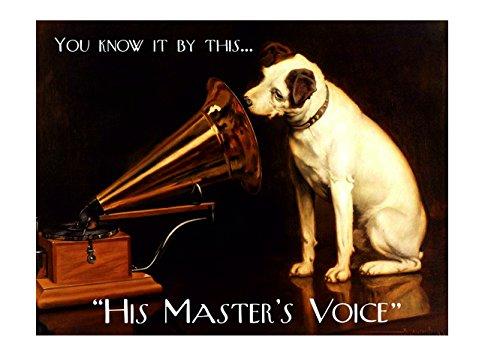 Ecool You know it by this his master s voice carino cane retro shabby chic vintage magnete da frigorifero in acrilico o può essere utilizzato una placca.