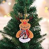 Ambiente Festivo Decoraciones de Navidad Mini Creativo Árbol de Navidad Decoración Colgante Muñeca pequeña muñeca Tridimensional Decoración de Cuento de Hadas (Color : B4 10PCS)
