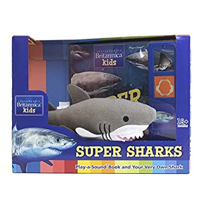 Encyclopedia Britannica Kids - Shark Sound Book and Shark Plush - PI Kids