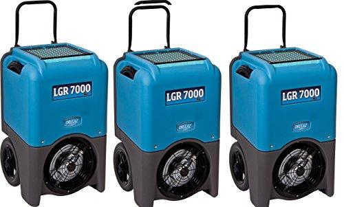 Dri-Eaz LGR 7000XLi 29-gallon Compact Portable Refrigerant Dehumidifier (3 Dehumidifier's) 1