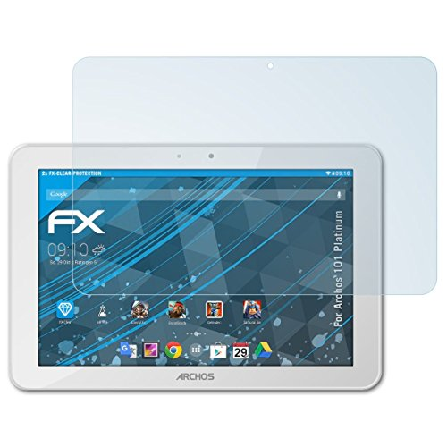 atFolix Schutzfolie kompatibel mit Archos 101 Platinum Folie, ultraklare FX Bildschirmschutzfolie (2X)