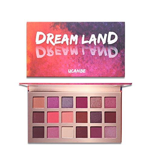 Allbesta 18 Farben Dream Land Matte Lidschatten Palette Make-up Venus Glitter Shimmer Pigmented