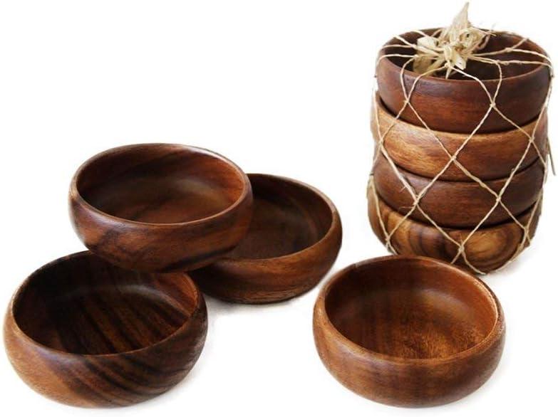 Acacia Handmade Wood Carved Plates - National uniform free shipping Set Max 46% OFF 4 Bowls of Siz Calabash