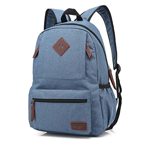 J020 15.6inch Laptop Backpack Women Bag Backpack Men Unisex Waterproof Oxford School Backpack Cusaul Rucksack (Denim Blue)
