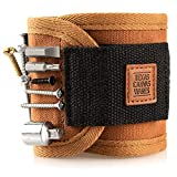Magnetic Wristband Handcrafted of Premium Canvas to Hold Screws, Nails, DIY Unique Cool Gift For The Man Who Has Everything Texas Canvas Wares