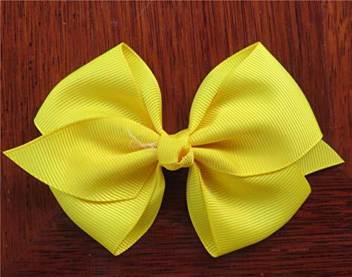 Mingi 1 STÜCKE Band Bogen Clip Elastische Haarbänder Für Mädchen Haarnadeln Haargummi Kinder Haarschmuck Für Frauen, Farbe 10, KEIN Clip Nur Bogen