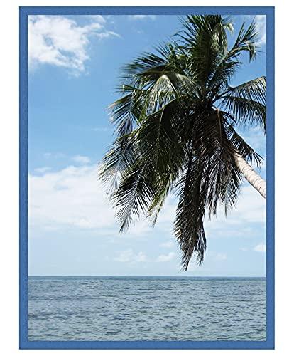 Cadre Photo Mural 20x25 cm / 25 x 20 cm Cadres Bleu Marine, 2 cm de Largeur, Cadre en Bois