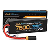 Powerhobby 2s 7.4v 7600mah 35c Lipo Battery w XT60 Plug + Adapter Compatible with : Slash 4x4 4WD 2WD Stampede Rustler E-Revo E-Maxx Spartan M41 X-Maxx Brushless VXL