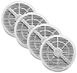 Nispira True HEPA Filter Replacement with Activated Carbon Compatible with Meleden Air Purifier, RIGOGLIOSO Air Purifier GL-2103, JINPUS Air Purifier LTLKY Filter 900S,2103, 4 Pack