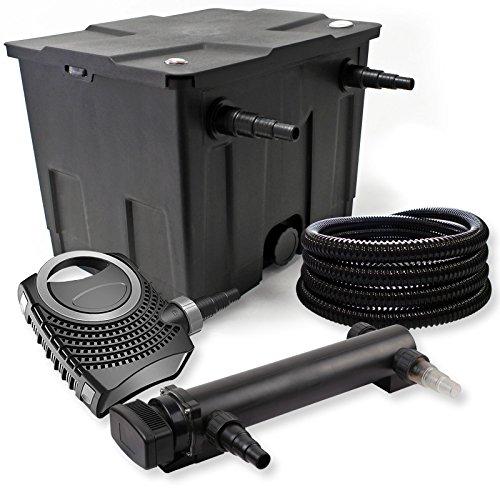 SunSun 1-Kammer Filter Set 12000l 36W UVC 3er Teich Klärer NEO10000 80W Pumpe Schlauch
