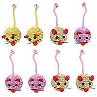 ibasenice 8個の猫のおもちゃペットのマウス小さなマウスの子猫インタラクティブプレイキャットニップのおもちゃ