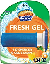 Scrubbing Bubbles Fresh Gel Toilet Bowl Cleaning Stamps, Gel Cleaner, Helps Prevent Limescale and Toilet Rings, Citrus Scent, 6 Stamps