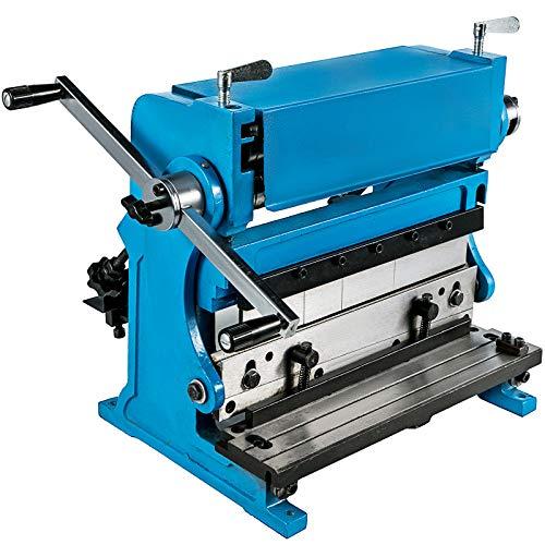 BestEquip Sheet Metal Brake 3-In-1 12-inch,Shear Press Brake 20-Gauge Capacity,Combination Sheet Metal Machine Solid Construction,Shears and Slip Roll Machine for Shear Bending Rolling