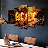 Cuadro de pintura artística de pared Angus Young Ac Dc Acdc banda de rock hogar decoración de sala de estar Mural HD impresión póster de imagen(Sin marco)