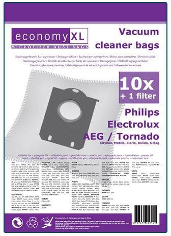 10 Staubsaugerbeutel geeignet für Philips PowerLife FC8452/01
