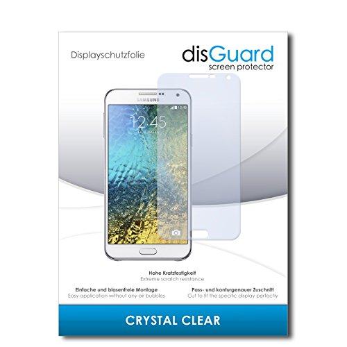 disGuard® Bildschirmschutzfolie [Crystal Clear] kompatibel mit Samsung Galaxy E7 [4 Stück] Kristallklar, Transparent, Unsichtbar, Extrem Kratzfest, Anti-Fingerabdruck - Panzerglas Folie, Schutzfolie